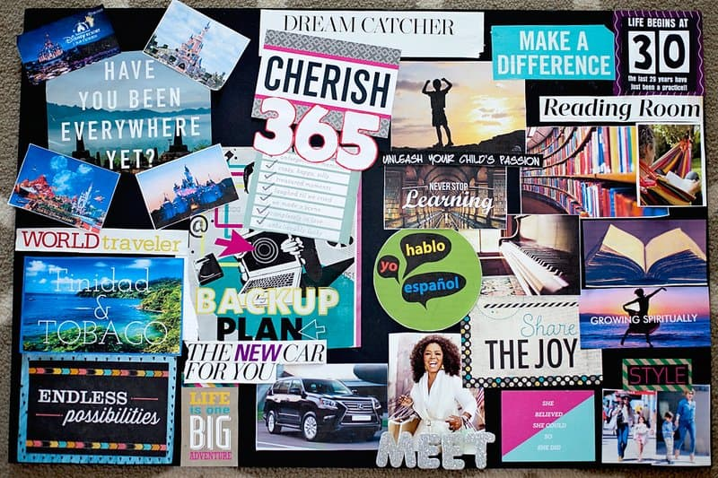 Create a vision board to feel more self-assured.
